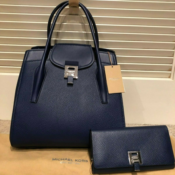 Michael Kors Collection Handbags - Michael Kors Brand New Sapphire Blue and Wallet
